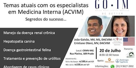 Temas atuais com os especialistas em Medicina Interna (ACVIM) ingressos