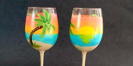 Beach Scene Wine Glasses tickets