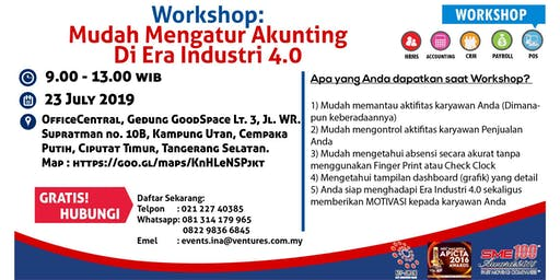 WORKSHOP MUDAH MENGATUR AKUNTING DI ERA INDUSTRI 4.0