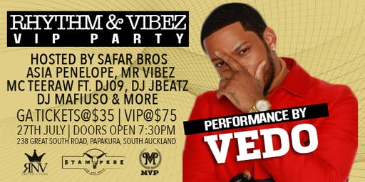 Rythm & Vibez VIP Party  with Vedo & The Safar Brothers