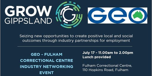 GEO Fulham Correctional Centre Industry Networking event