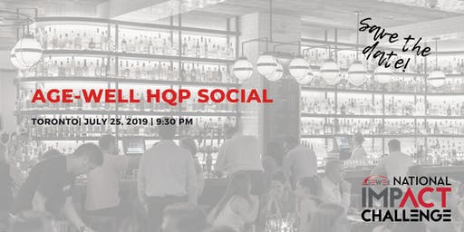 AGE-WELL HQP Social - Toronto Chapter