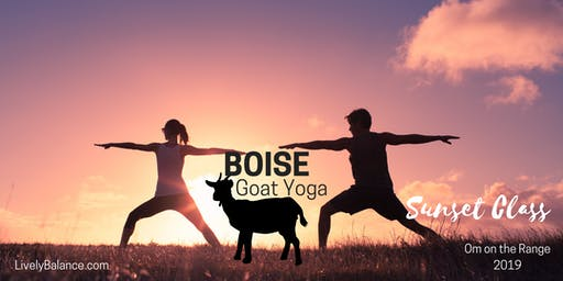 Boise Goat Yoga Sunset Class