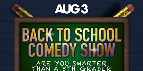 Back To School Comedy Show starring The Comic CRU  tickets
