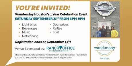 Wanderstay Houston Hostel One Year Anniversary Party tickets