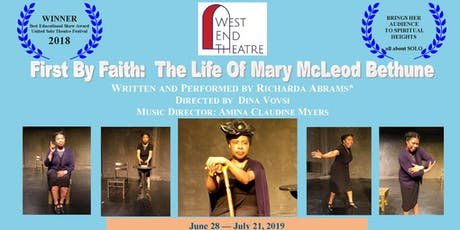 First By Faith: The Life Of Mary McLeod Bethune tickets