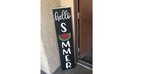 Hello Summer Door Sign