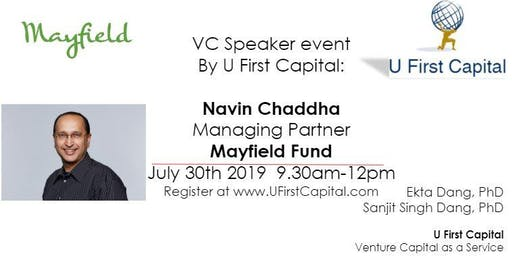 VC Speaker: Mayfield Fund Managing Partner Navin Chaddha