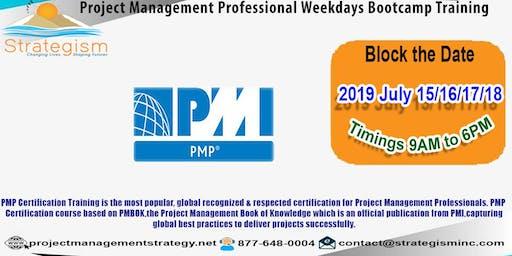 PMP weekdays Bootcamp in San jose-July-15,16,17,18-2019