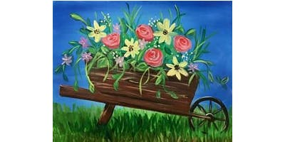 "Sip & Paint ""Barrow of Blooms"""