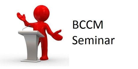 BCCM Seminar - Hervey Bay (Pialba) tickets