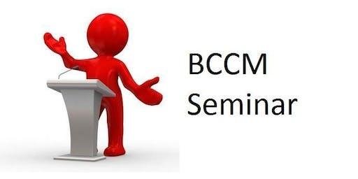 BCCM Seminar - Hervey Bay (Pialba)