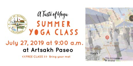 Yoga Class at Artsakh Paseo, Glendale tickets