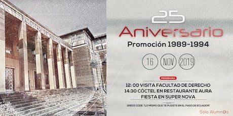 25 Aniversario promoción Derecho Zaragoza 89-94 entradas