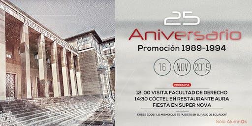 25 Aniversario promoción Derecho Zaragoza 89-94