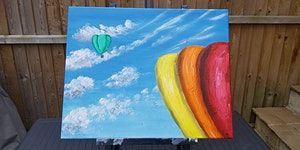 Paint By Wine- Hot Air Balloons