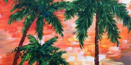 Painting & Vino: 'A Palmy Sunset' tickets