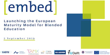 Launching the European Maturity Model for Blended Education (EMBED) tickets