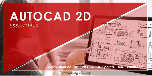 AutoCAD 2D Basics from zero   2-day Short Course   20 CCD CIDB points