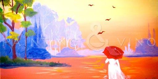 Painting & Vino: 'Red Umbrella'