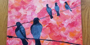 Paint By Wine - Birds on a Wire