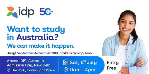 Academic Excellence at its best! Join us at IDP's Australia Admission Day in Delhi