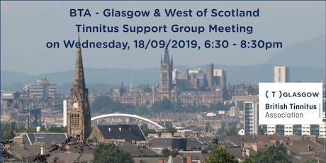 BTA – Glasgow & West of Scotland Tinnitus Support Group (18/09/2019) tickets