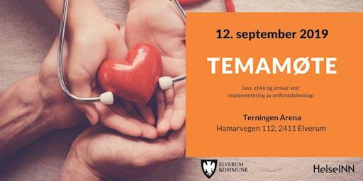 Temamøte: Juss, etikk og ansvar ved implementering av velferdsteknologi