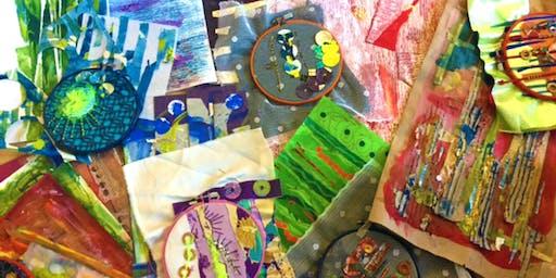 Sketchbooks - Stitch, textile art creation day