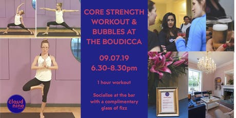 Core Strength Workout & Bubbles at the Boudicca tickets