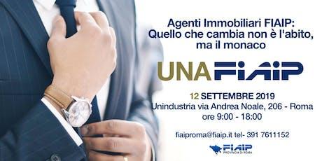FIAIP ROMA CORSO UNAFIAIP - 12 SETTEMBRE - RISERVATO AGLI ASSOCIATI FIAIP biglietti