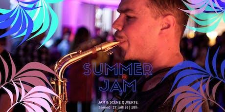 Summer jam & scène ouverte billets