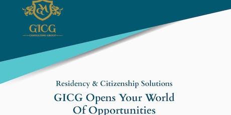 GICG Citizenship/Residency Roadshow in Bengaluru tickets