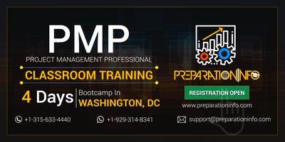 PMP Exam Prep Classroom 4 Days Weekday Training in Washington DC