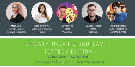 Growth Hacking Bootcamp: TopTech Edition    tickets