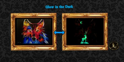 Glow in the Dark Sip & Paint: The Wolf