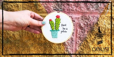 Crowned Sparrow Co.: Crafty Hour at Catalyst | Sassy Stitches Embroidery