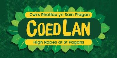 COEDLAN: Cwrs Rhaffau Sain Ffagan | High Ropes at St Fagans