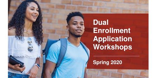 WEST CAMPUS - Spring 2020 DE Application Workshop