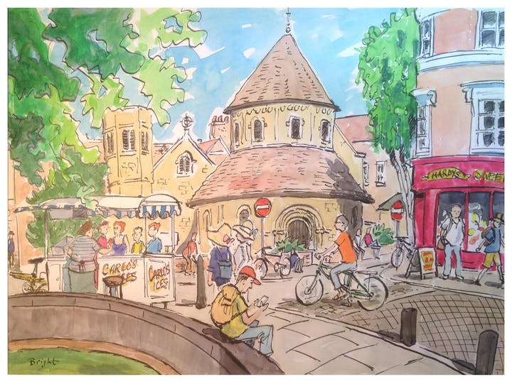 Pen & Ink Watercolour Cambridge Scenes Day Workshop