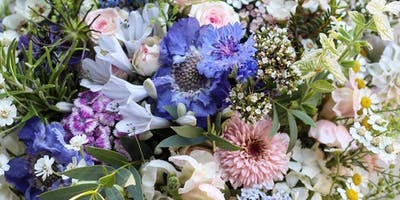Floral Workshop 1, Summer Garden Flower Hand Tied Bouquet