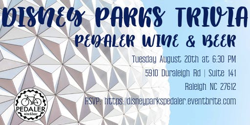 Disney Parks Trivia at Pedaler Wine & Beer