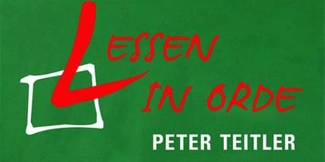 "Peter Teitler ""Lessen in orde"" tickets"