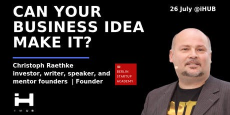 Christoph's Feedback: Can your business idea make it? KIEV EDITION! tickets