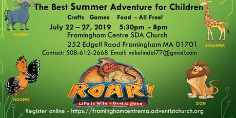 Summer Adventure for Children- Free Crafts/Games tickets