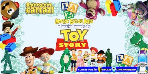 """Desconto! Espetáculo """"Amigo Estou Aqui, Incrível Mundo de Toy Story"""" no Teatro BTC"""