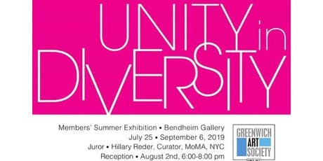 "First Republic Bank presents ""Unity in Diversity"" A Greenwich Art Society Member Exhibition at the Bendheim Gallery tickets"
