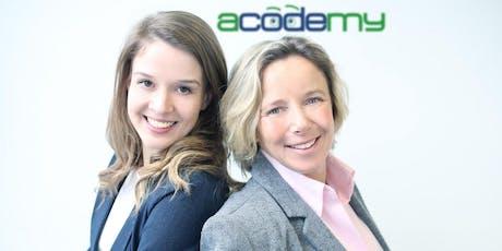 Business Frühstück mit Anne Relle-Stieger und Elisabeth Weißenböck - 2 Min 2 Mio - Erfolg mit acodemy, ihrer Programmierschule für Kinder Tickets
