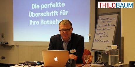 Klartext-Seminar mit Thilo Baum Tickets