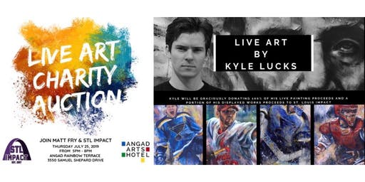St. Louis Impact Live Art Charity Auction featuring LIVE art by Kyle Lucks